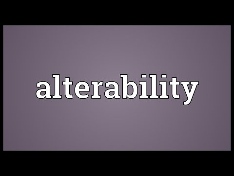 Header of Alterability