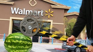 We Built Survival Weapons Using ONLY Items Found at Walmart!!