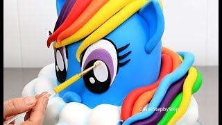 How To Make a RAINBOW DASH PONY Cake | My Little Pony Cake by Cakes StepbyStep