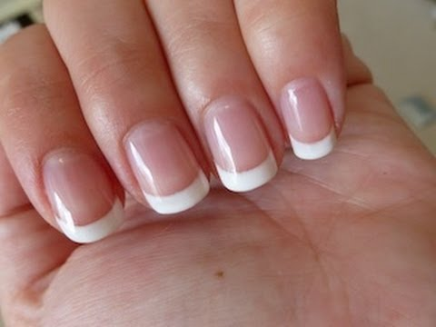 How to get the perfect gel french manicure yourself nails Sally Hansen
