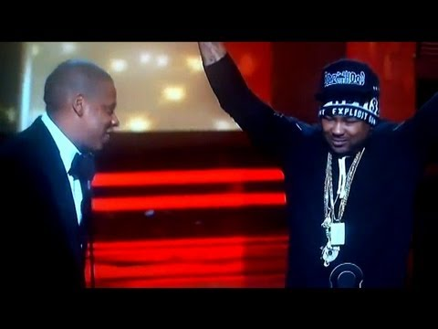 {WATCH} Jay-Z Disses The Dreams  Hat @ 2013 Grammy Awards Thanks The Swap Meet..