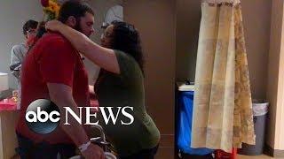 Man battling rare neurological disorder surprises the mother of his 3 children