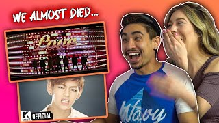 BTS 'Boy With Luv' ft. Halsey Official Teaser 1 First Time Reaction! (+ 'Boy In Luv' MV)