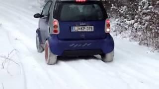 Auto Sock: snow socks on Smart car 1