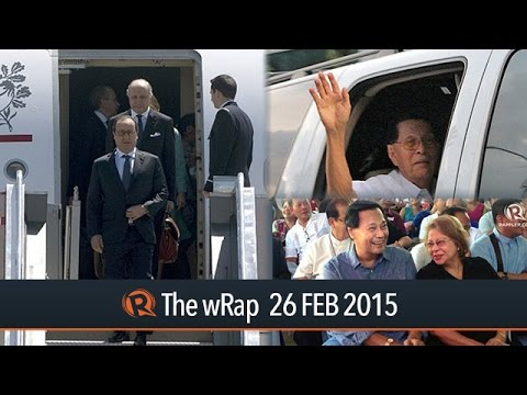 Hollande PH visit, Corona joins ouster, Enrile at Makati Med | The wRap