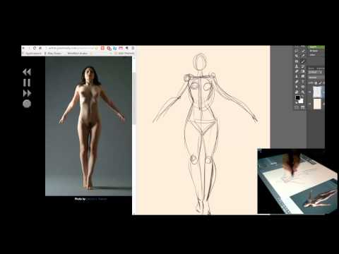 Gesture figure drawing ,Cintiq 24 HD photoshop