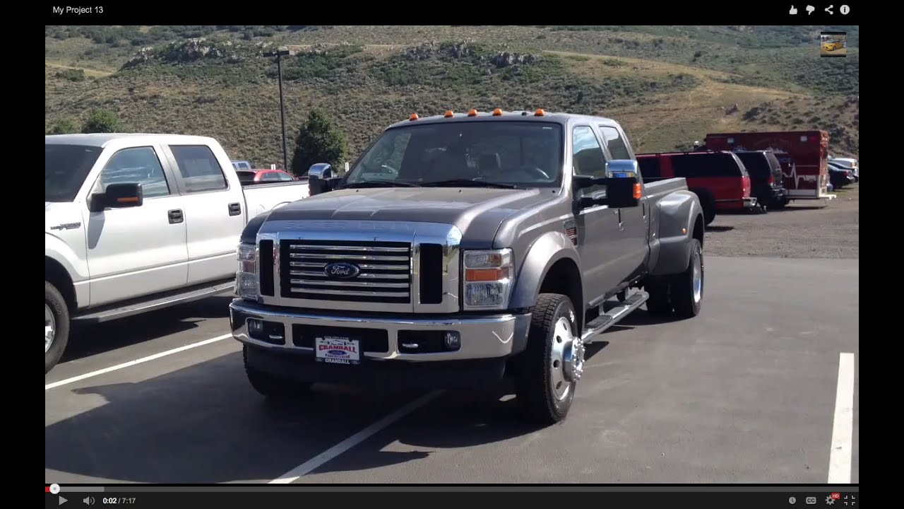 Ford F350 For Sale >> 2008 Ford F-450 Lariat 6.4 Powerstroke full tour (startup, engine, interior, exterior) - YouTube