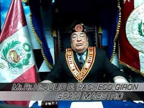 GRAN LOGIA CONSTITUCIONAL DEL PERU MENSAJE DEL MRH:. JULIO C  PACHECO   GIRON POR NAVIDAD.avi