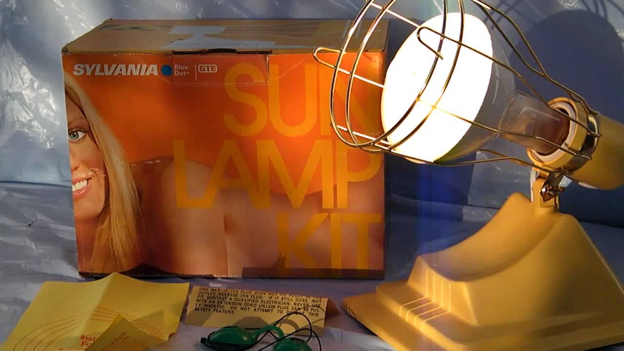 vintage 80s sylvania electric sun lamp tanning light youtube. Black Bedroom Furniture Sets. Home Design Ideas