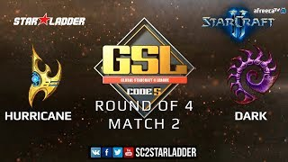 2019 GSL Season 2 Ro4 Match 2: Hurricane (P) vs Dark (Z)