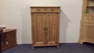 Tall Antique Night Cupboard with drawer - Pinefinders Old Pine Furniture Warehouse
