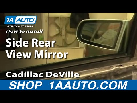 How To Install Replace Side Rear View Mirror Cadillac DeVille 94-99 1AAuto.com