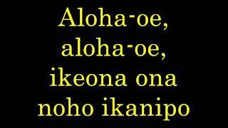 Aloha Oe Lyrics