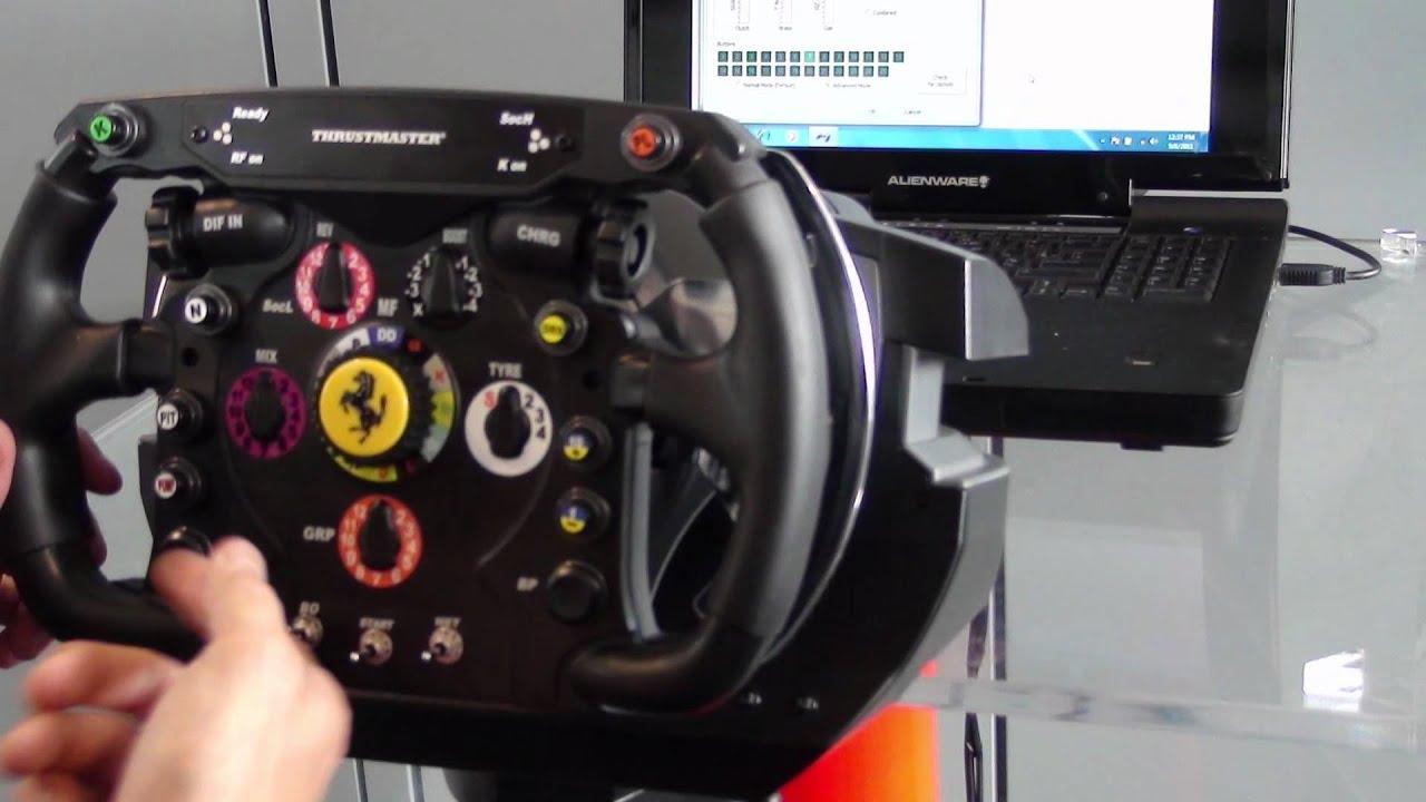 Thrustmaster T500rs Ferrari Formula One Wheel Youtube