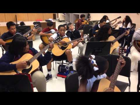 """Lindley Middle School Guitar - """"I Still Haven't Found What I'm Looking For"""" - U2"""