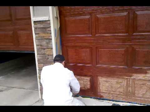 Video by brush magic painting how to paint wood graining for How to paint faux wood garage doors
