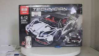 Mở hộp Lepin 23006 Lego Technic MOC Lamborghini Veneno giá sốc rẻ nhất