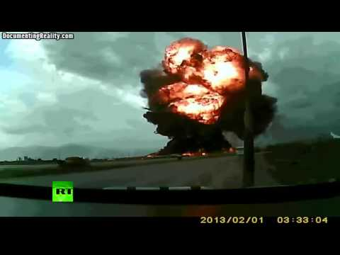 Boeing 747 crash at Bagram Airfield caught on tape