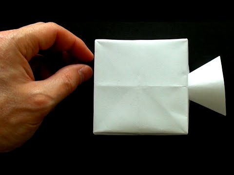 Baking An Origami Video Camera From Edible Rice Paper
