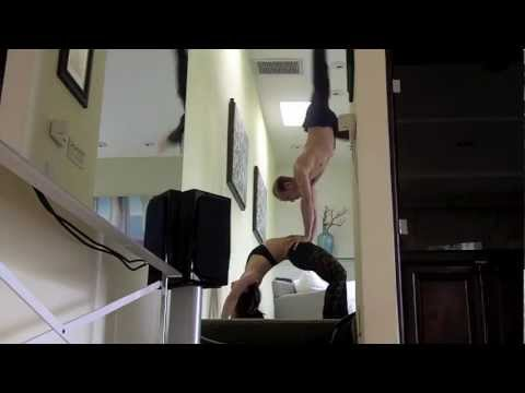 AcroYoga Handstand on Hips - Performance Prep with Tari Mannello and Miyoko Fujimori