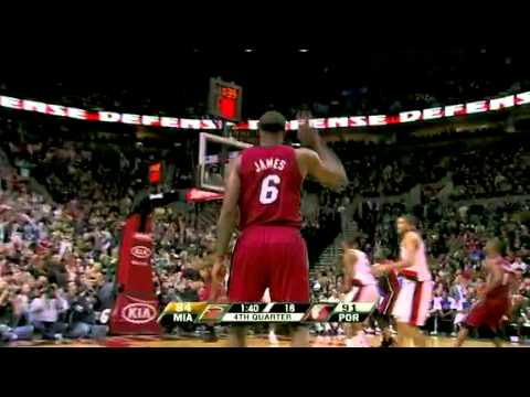 Miami Heat vs Portland Trail Blazers (107 -100) January 9, 2010