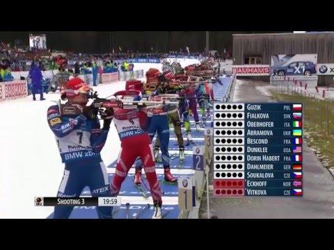 WHAT A PHOTOFINISH ! Biathlon World Cup 2016 (Week 4/Day 3) - Women's 12,5km Mass Start race