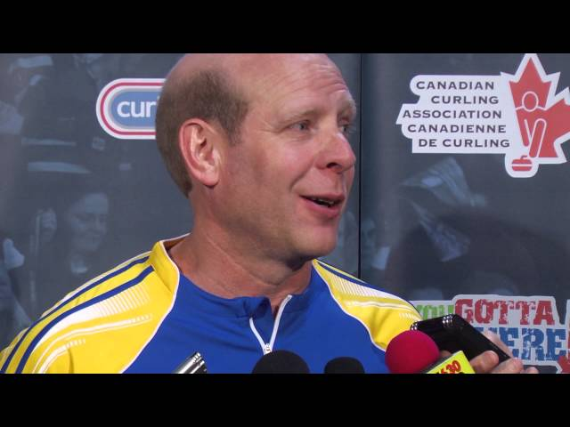 Draw 14 Media Scrum - 2013 Tim Hortons Brier