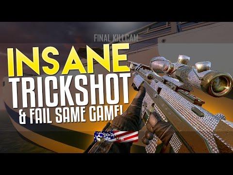 INSANE TRICKSHOT AND FAIL SAME GAME!