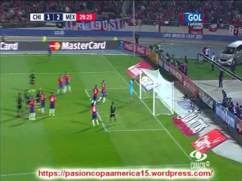 Chile 3 Mexico 3   (Radio Cooperativa)  Copa America 2015 Los goles