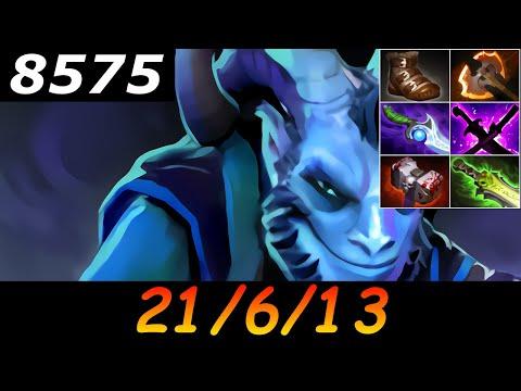 Dota 2 Riki 8575 MMR 21/6/13 (Kills/Deaths/Assists) Ranked Full Gameplay