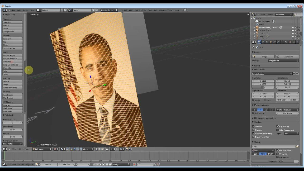 Blender 3d Modeling Tutorial ( 7 ) - Turning Photos into 3D - YouTube