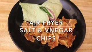 AIR FRYER: HOW TO MAKE SALT & VINEGAR CHIPS| Jackie1113