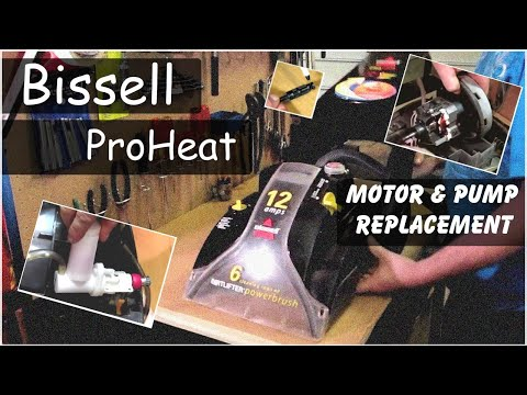 Replacing Motor & Pump On A Bissell ProHeat Carpet Cleaner Model 7901