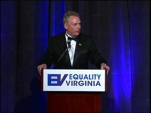 Terry McAuliffe at the 2013 Equality Virginia Commonwealth Dinner