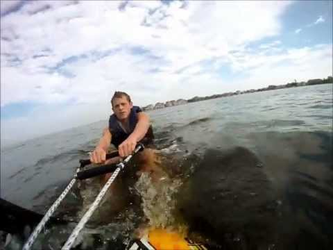 water skiing barnegat bay 9.25.11