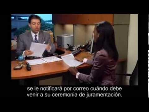 Naturalization Interview With Spanish Subtitles  U.s. Citizenship Test  Subt  Tulos En Espa  Ol