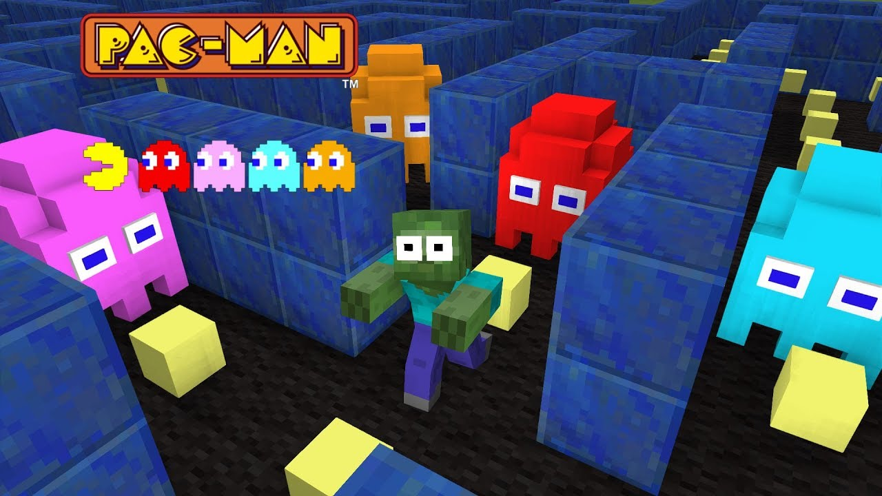 Monster School : Pac-Man - Minecraft Animation