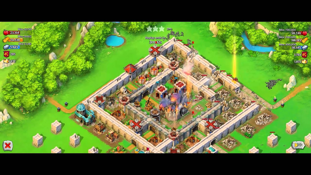 Aoe castle siege pvp with saladin and rurik hero youtube