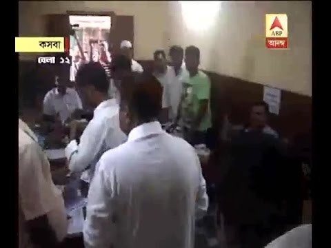 Mukul Roy within a booth at Kasba