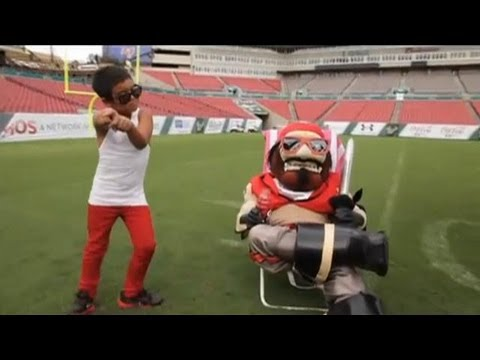 Captain Fear & Tampa Bay Buccaneers Cheerleaders - Gangnam Style