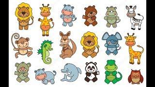 Обучающие мультики для детей. Забавные животные для самых маленьких.