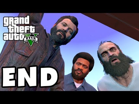 Grand Theft Auto 5 - Gameplay Walkthrough Part 54 - Ending. Credits. Review! (GTA 5. XBox 360. PS3)