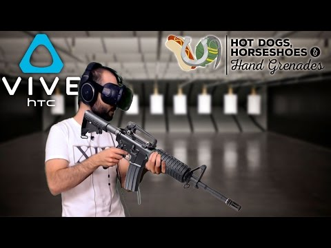 SIMULADOR DE ARMAS (HTC Vive) | HOT DOGS, HORSESHOES & HAND GRENADES Gameplay Español
