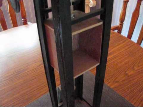 Homemade traction elevator youtube for Diy home elevator plans
