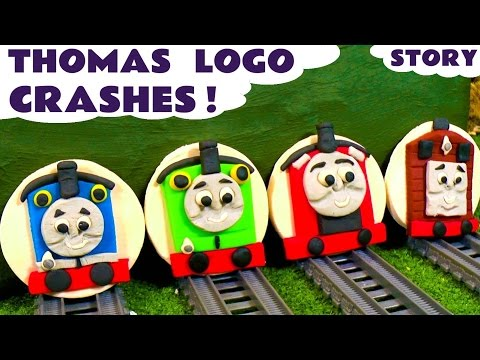 Thomas and Friends Play Doh Toy Trains Logo Crashes with Superheroes Hulk & Spiderman TT4U