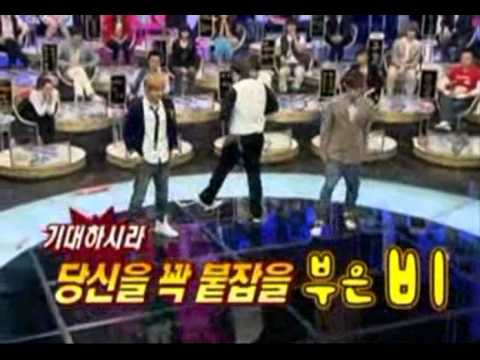 Rain vs. Super Junior Shindong
