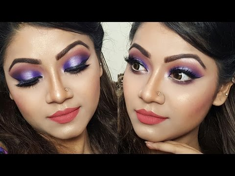 Purple Halo Eye Makeup - Indian/ Pakistani/ Bangladeshi Bridal/ Wedding Makeup Tutorial