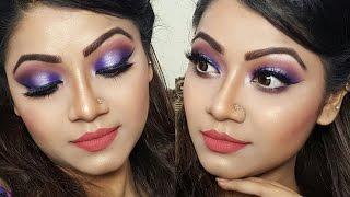 Purple Halo Eye Makeup - Indian/ Pakistani/ Bangladeshi Bridal/ Wedding Makeup Tutorial