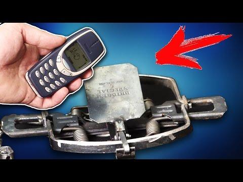 ВЫДЕРЖИТ МЕДВЕЖИЙ КАПКАН ТАКИЕ ИЗДЕВАТЕЛЬСТВА от NOKIA 3310 ?! Плюс арбуз в капкан..