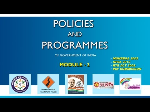 Policies and Programmes of Government of India, Module - 2